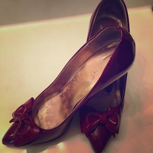 COACH Red Bow Pumps